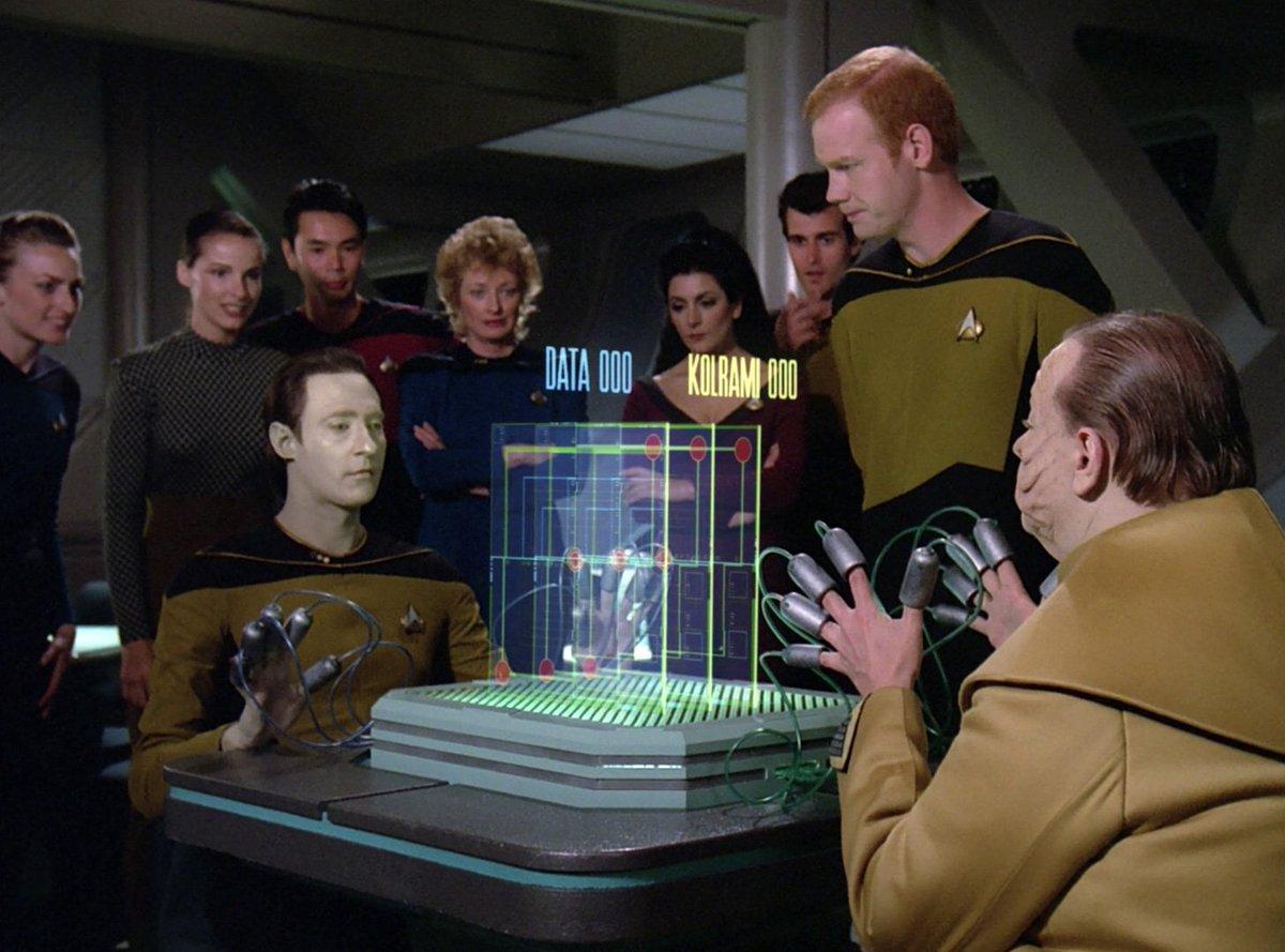 "Trent Klein on Twitter: """"I can't believe it. The computer beaten by flesh  & blood."" ~Doctor Pulaski (Peak Performance) #StarTrek #Strategema… """