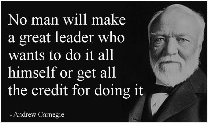 Words of timeless wisdom from Andrew Carnegie... #SharonLechter #ThinkandGrowRich https://t.co/rnMkAsJEfk