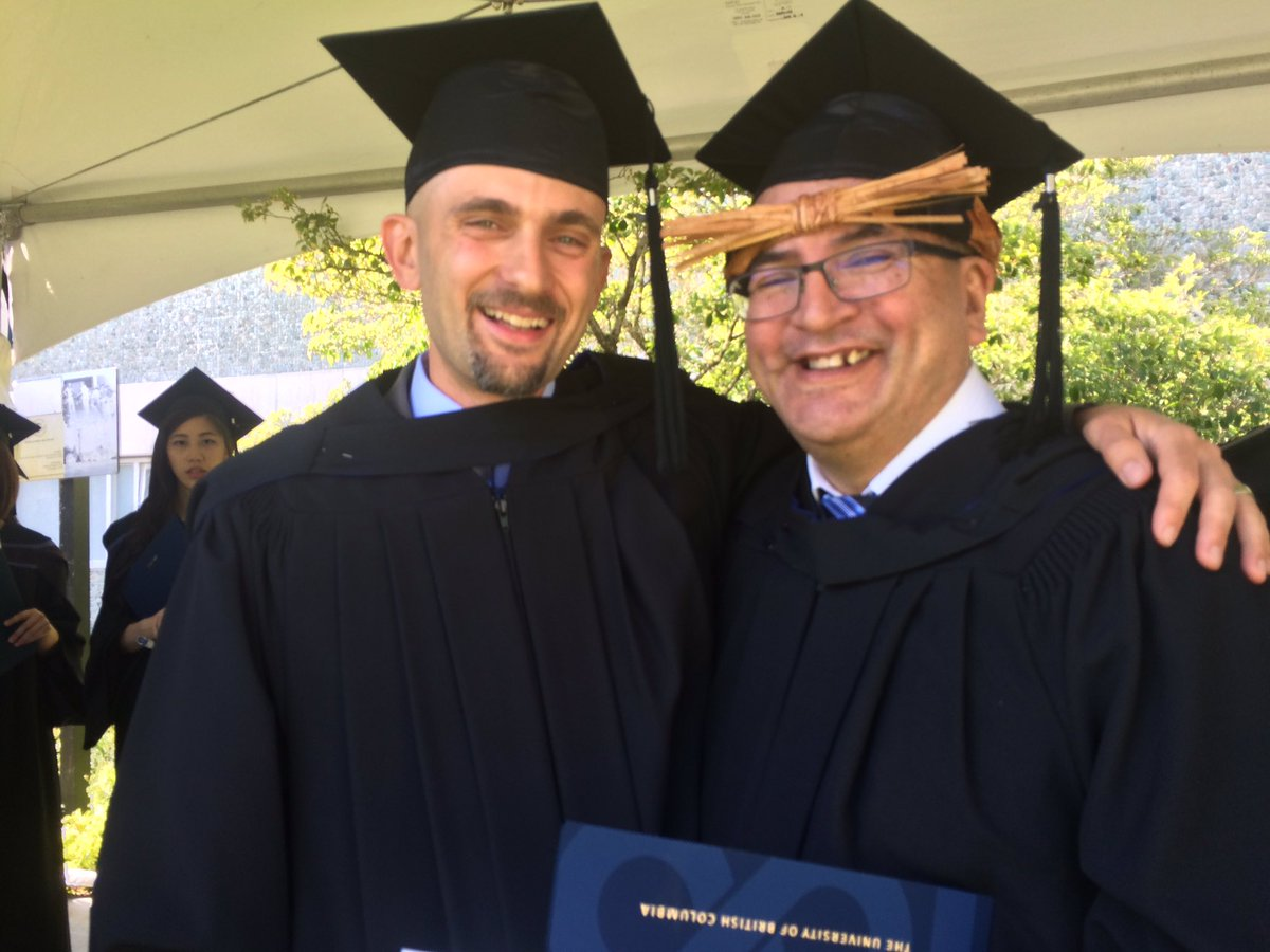 Number of dads in this photo: 2 Number of grads in this photo: 2 #dadgrads #UBCgrad @Wawmeesh @UBCJournalism https://t.co/N9QXy4iUTj