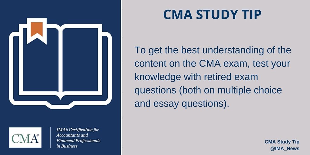 Ima On Twitter Reviewing Retired Cma Exam Questions Is One Of The