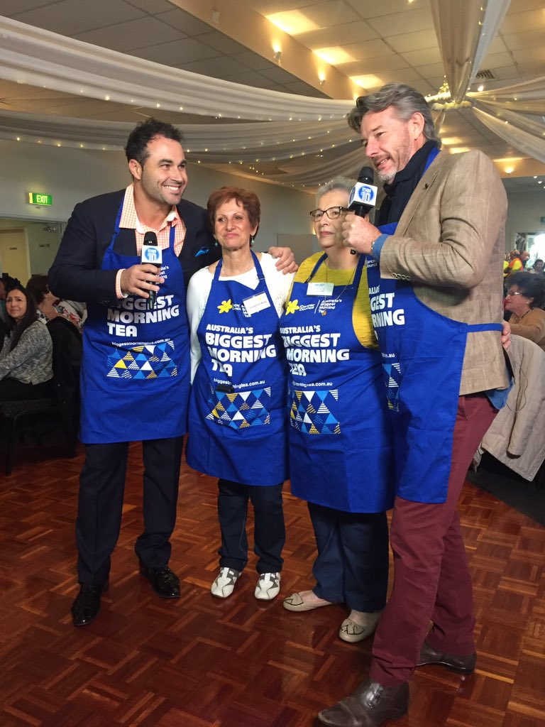 Live shot at Theresa and Jo's morning tea with @TheCrazyBull, @CCNewSouthWales and @Studio10au. https://t.co/4EIFcM2vXC