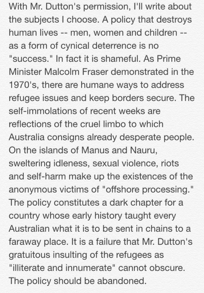 And my response to Mr. Dutton @PeterDutton_MP https://t.co/CsfBlbtb0r