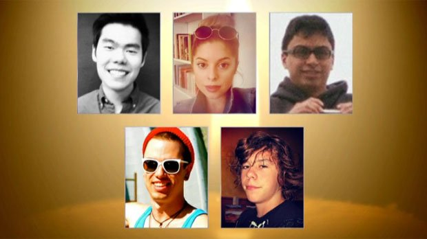 Remembering five lives lost