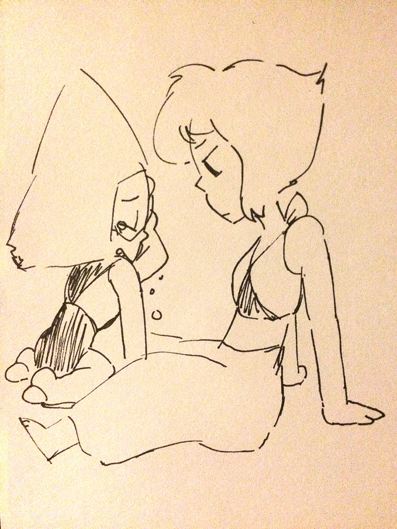 """""I'm just missin Homeworld again Lazuli! Nothing to worry about!"" ... ""Aha..ah.. why won't the tears stop?.. Weird!"""""