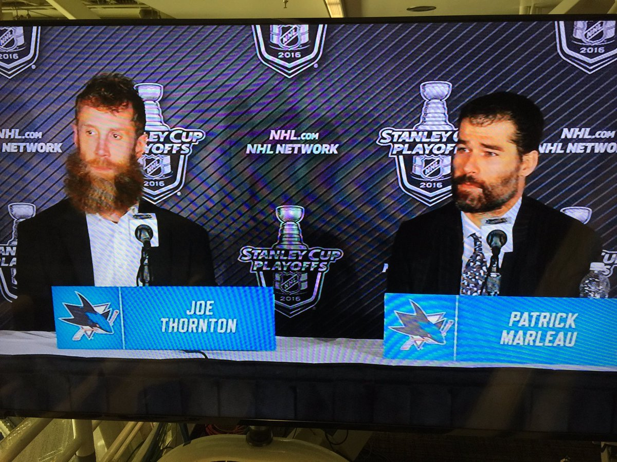 I'm not sure two guys deserve this more than these two great hockey players! #JoeThornton #PatrickMarleau #NHL https://t.co/eVrAZM0cqQ