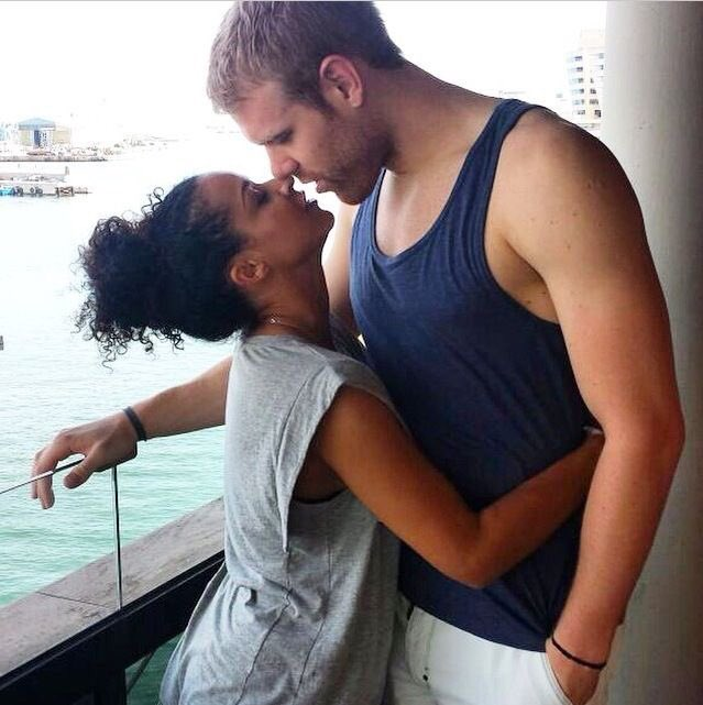 Young black girl dating older white man