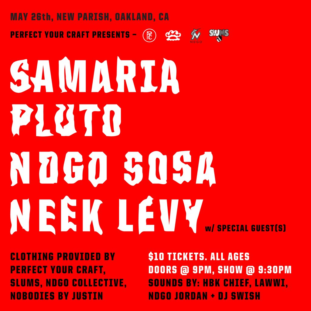 Oakland! may 26th @ the New Parish....... --> https://t.co/1ftSw7oIUX https://t.co/k1WtdCxvoa