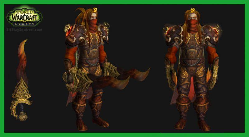 Trackline On Twitter Gold Orange Outlaw Rogue Transmog Warcraft