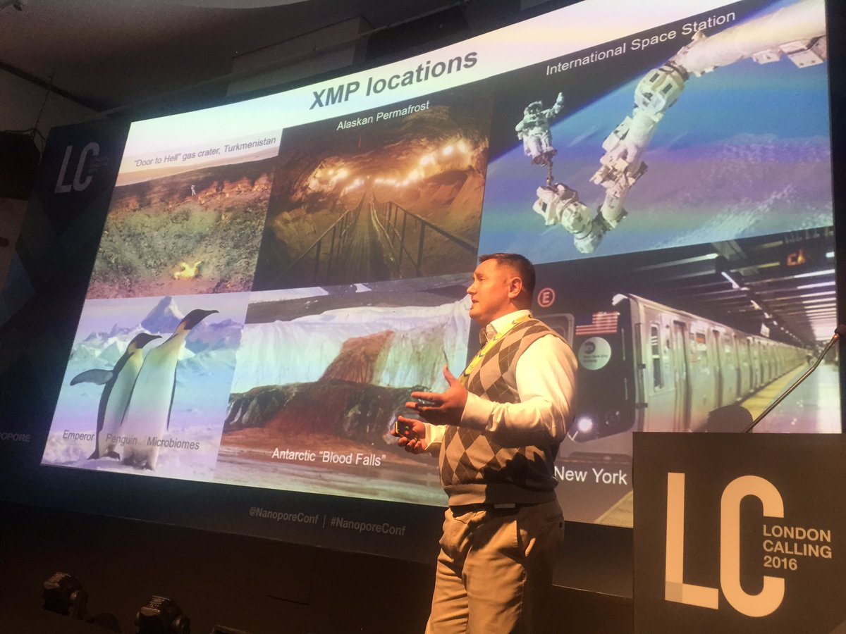 Some examples of extreme micro biome environments from @DrKenMcGrath #nanoporeconf https://t.co/gxZPNa12KC