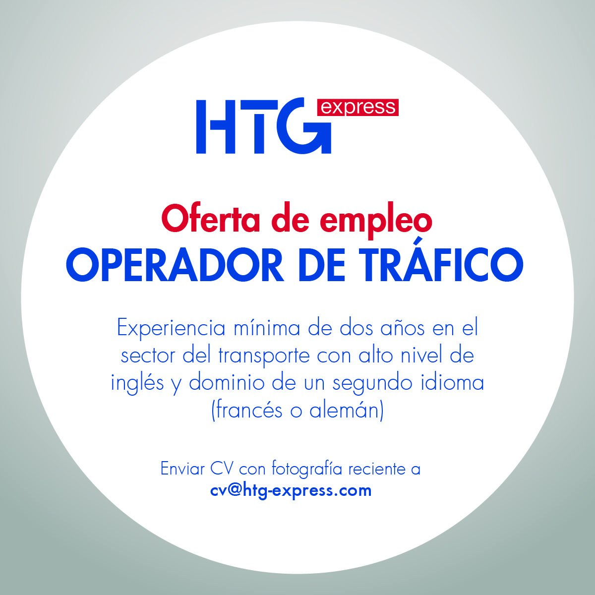 Htg Express On Twitter Oferta De Empleo De Operador De Tráfico