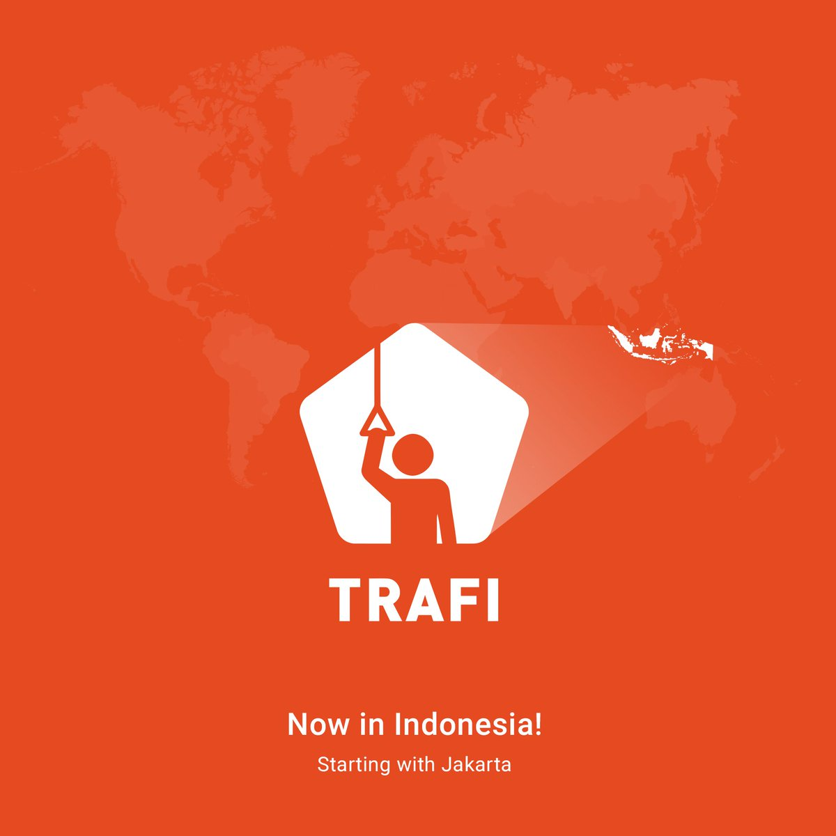 Selamat Datang!  #TRAFIapp is now live in #Indonesia! Download our #app & enjoy #publictransit in #Jakarta! https://t.co/fuwIzBXHQy