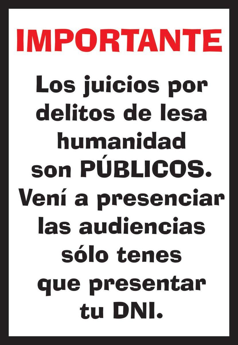 Sólo necesitas tu DNI para presenciar las audiencias de debate #MegacausaOI en Tucuman. Jueves y viernes desde las 9 https://t.co/Pnp3mHBKEK