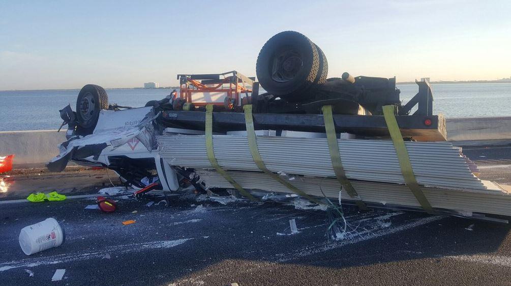 Road Ranger critically injured in 4-vehicle crash on Howard Frankland