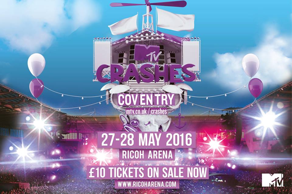 BEWARE Coventry! I'll be joining @MTVCrashes this Sat 28 May at the @RicohArena. TIX > https://t.co/6gZxyYiS37 https://t.co/MZ8uGZFCet