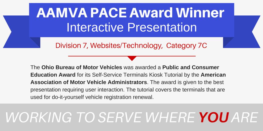 Ohbureaumotorvehicle on twitter we won a 3rd aamvaconnection 617 am 26 may 2016 solutioingenieria Choice Image