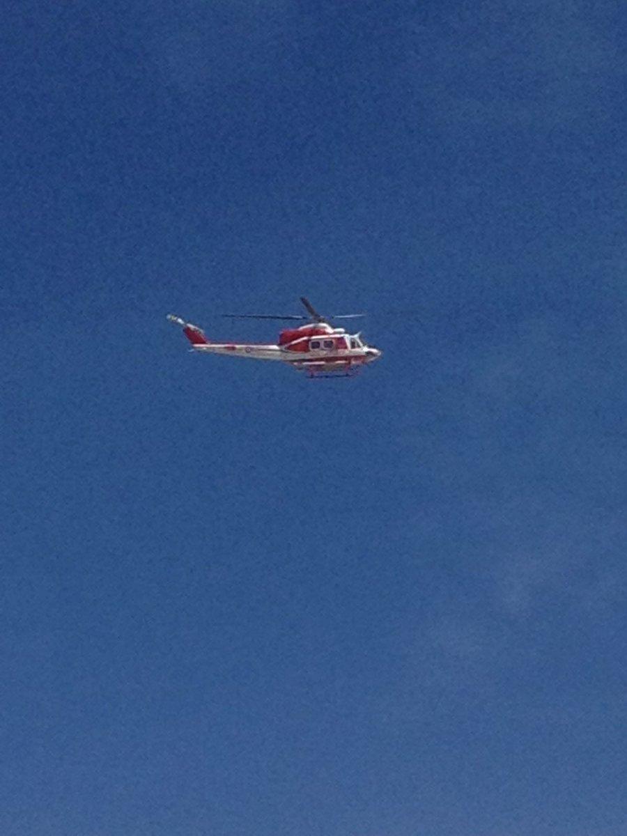 Elicottero VVF durante soccorso