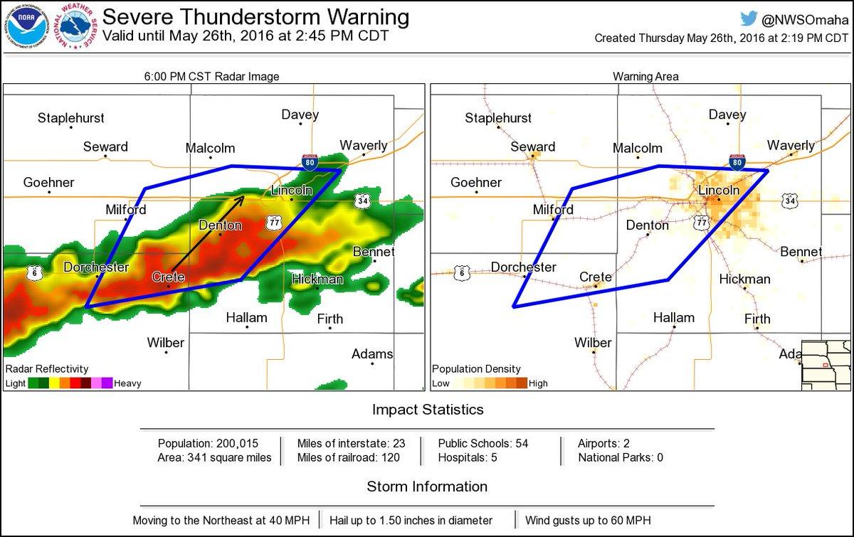 Nws Omaha On Twitter Severe Thunderstorm Warning