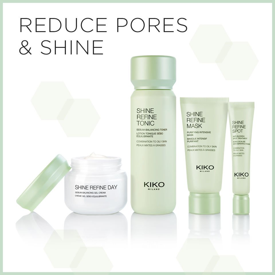 Kiko Milano Uk On Twitter Oily Skin Our New Shine Refine Skin Care Range Is Studied To Reduce Excess Oil Purify Pores Beginwithskin