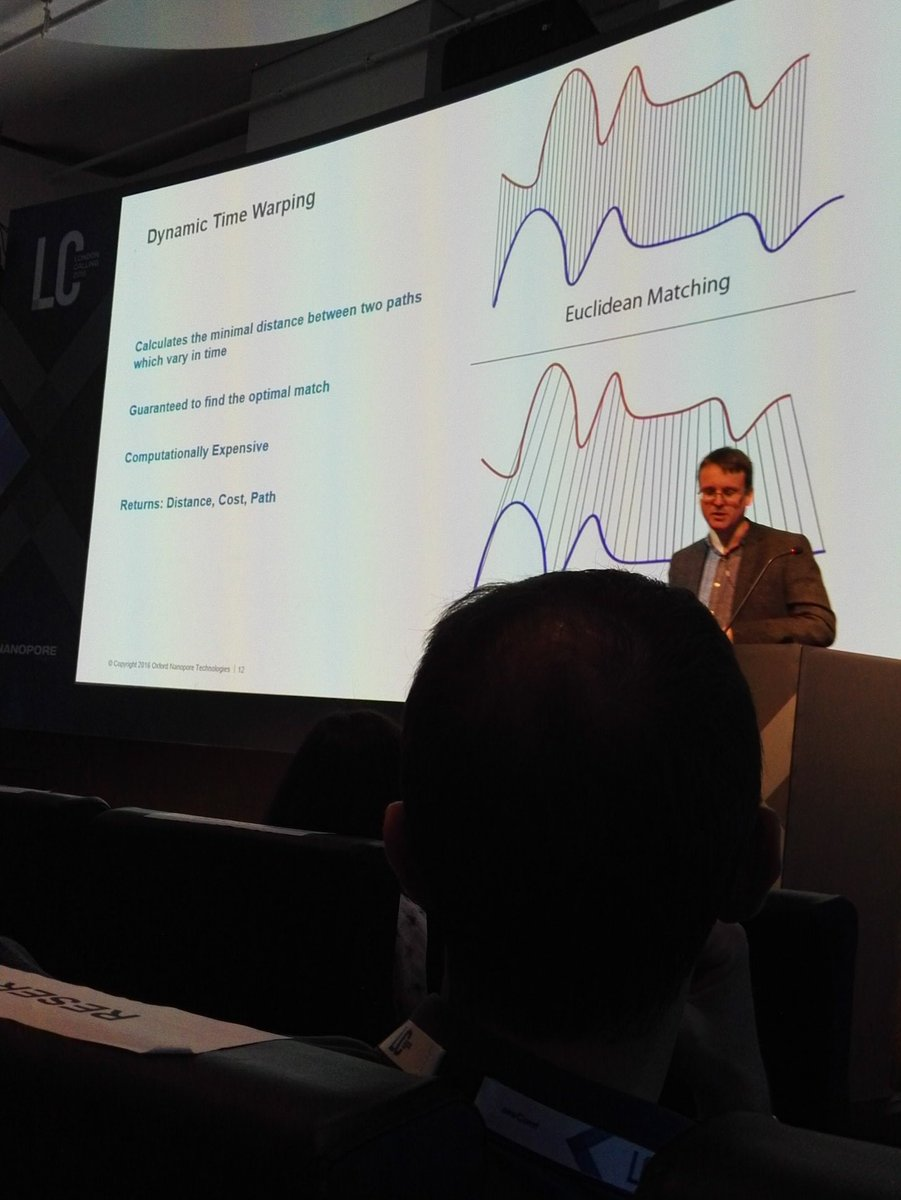 Oooh, dynamic time warping!! @mattloose  talking on read until @NanoporeConf #nanoporeconf https://t.co/Dqdd5CegYW