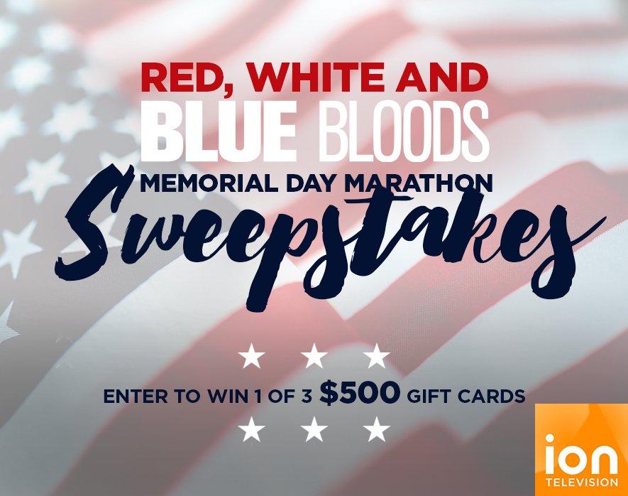 Catch @IONTV's #RedWhiteBlueBloods Marathon & enter to win $500! https://t.co/0AIs8JQQat #sweepstakes #entry https://t.co/IhDzwrA51z