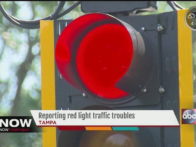 Reporting red light timing frustrations in Tampa area