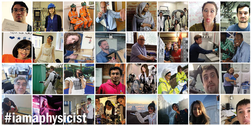 We've had an amazing #iamaphysicist day so far, so many fantastic photos have been shared already! Keep them coming!