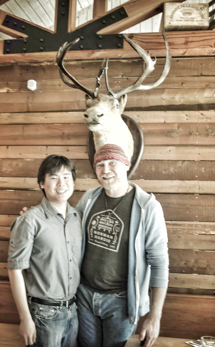 Travelling Foodie Raymond Cua with Chef Todd Perrin at Mallard Cottage in St. John's, Newfoundland