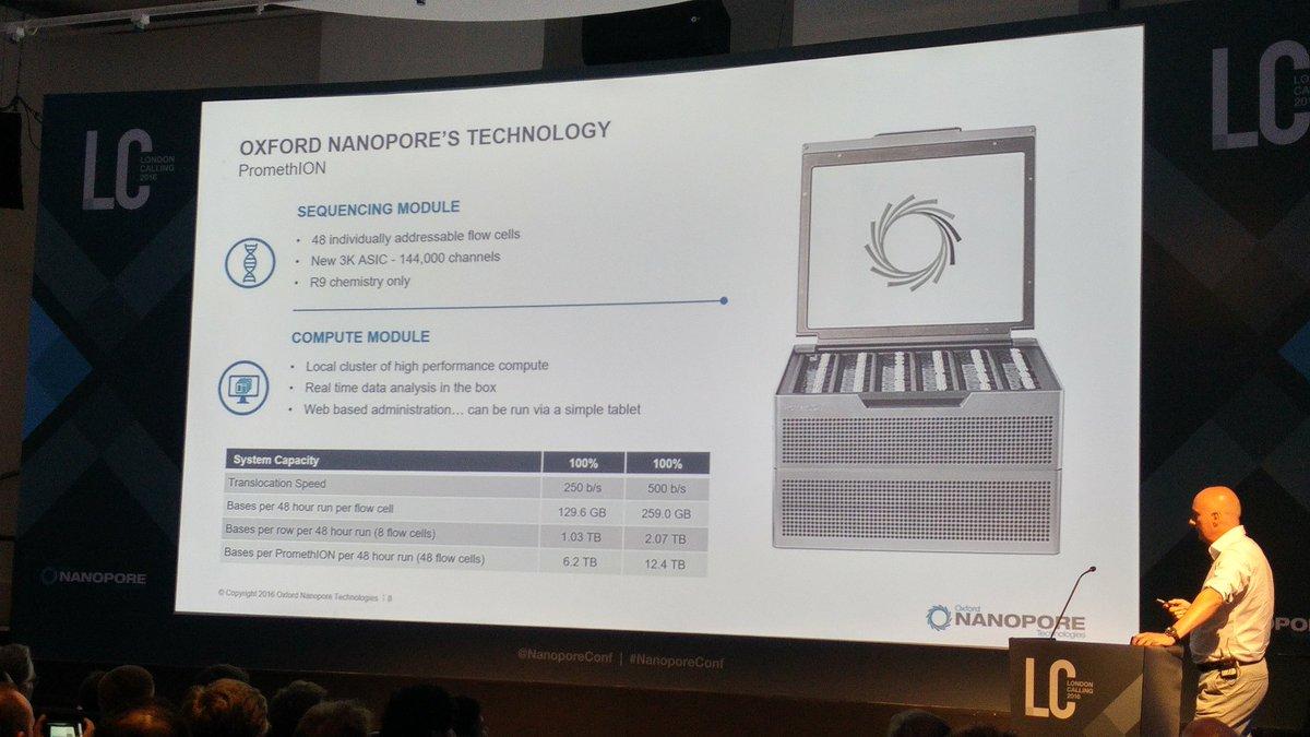 PromethION at #nanoporeconf https://t.co/mwfctLnUkr