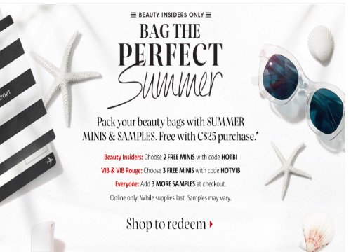 Sephora Bag The Perfect Summer Samples Promo Code #sephora #bbloggersca  http://www. canadiandailydeals.com/2016/05/sephor a-bag-perfect-summer-samples.html?spref=tw &nbsp; … <br>http://pic.twitter.com/9jAk3I0waL