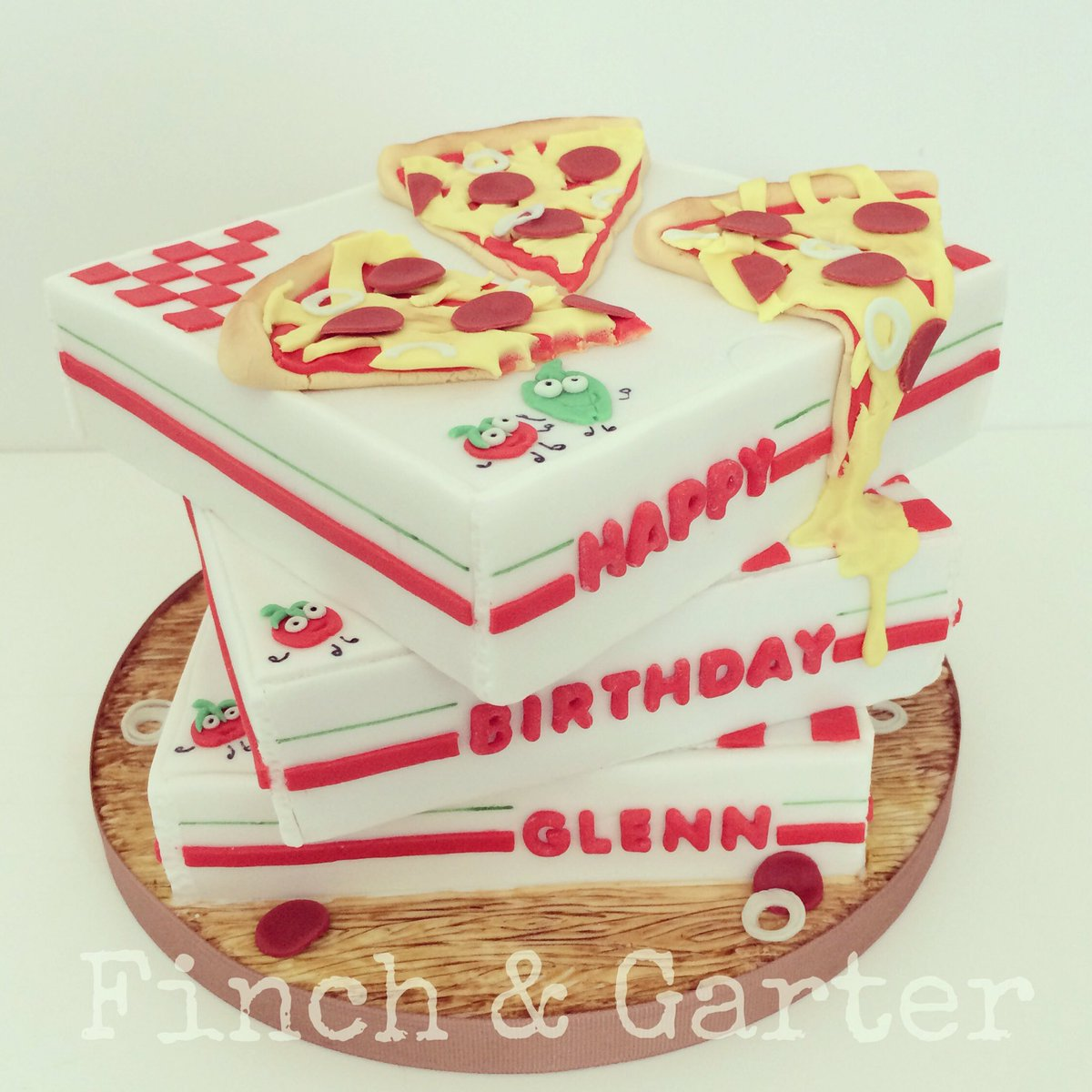 Stupendous Finch Garter Cakes On Twitter Pepperoni Pizza Birthday Funny Birthday Cards Online Alyptdamsfinfo