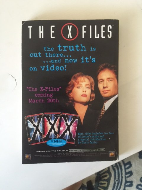 Fantasy & Science Fiction, May 1996, back cover ad for the X-Files