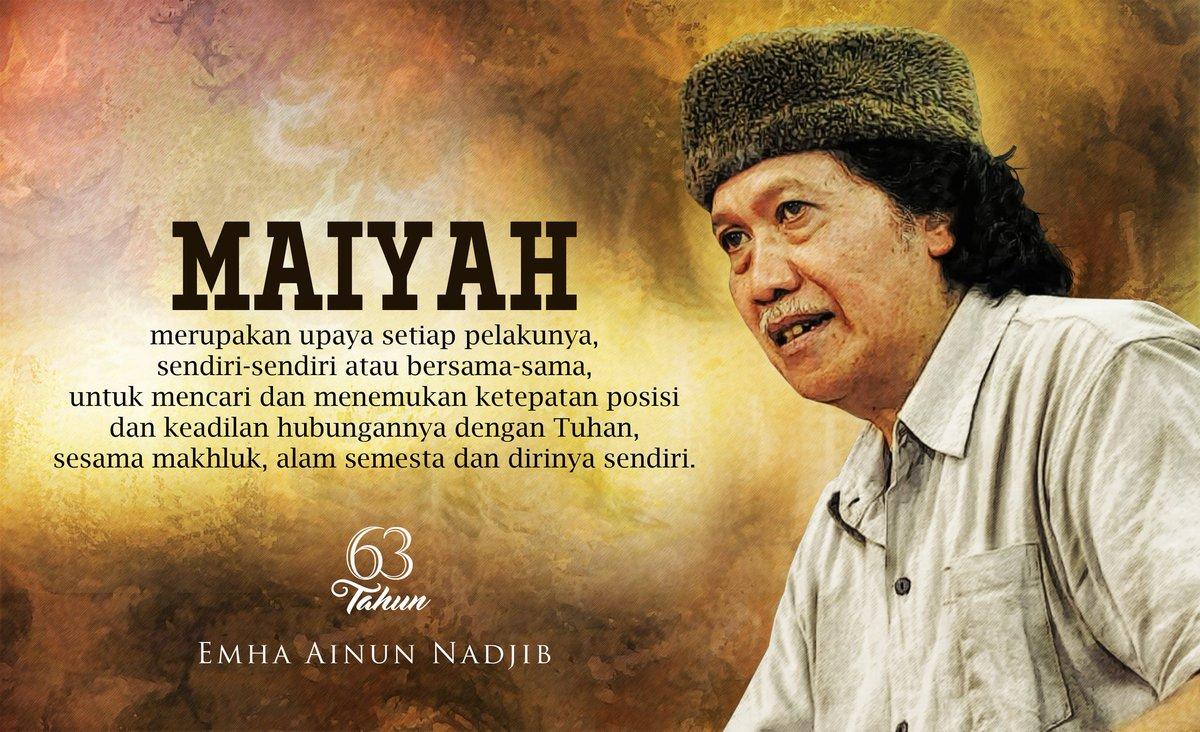 63 Tahun Emha Ainun Nadjib. #63TahunCakNun https://t.co/v93ai2azNi