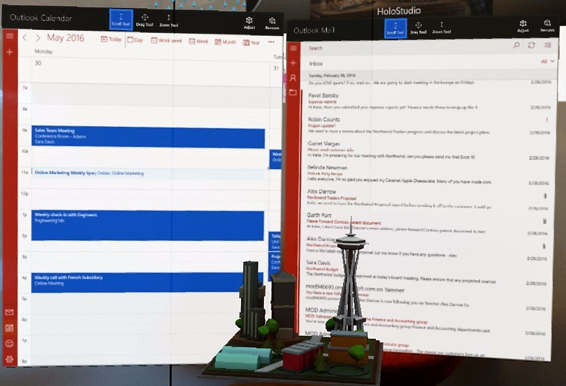 HoloLens now has Outlook Mail and Calendar apps
