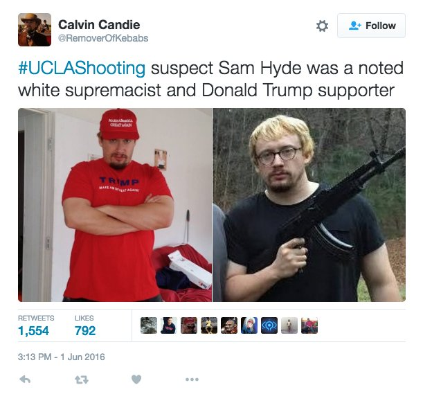 Trolls Keep Identifying Comedian Sam Hyde As The Gunman