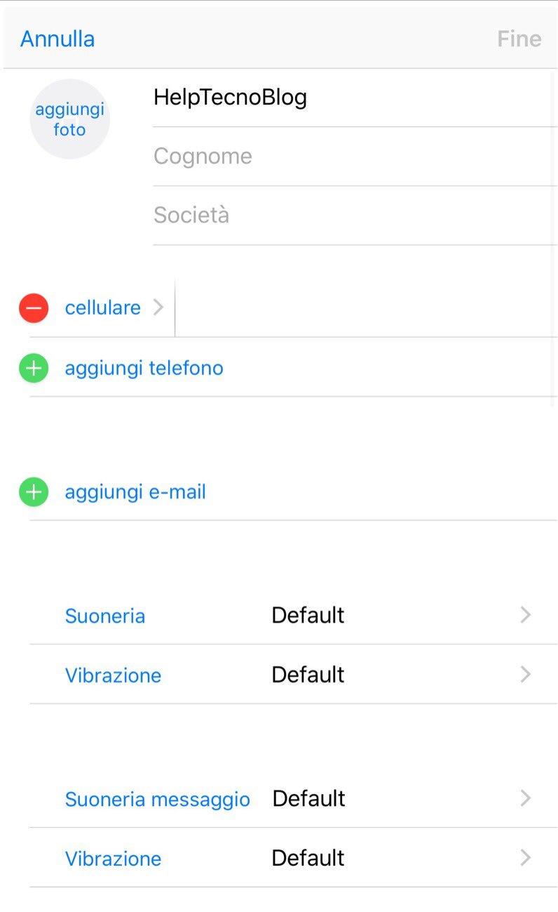Come modificare un contatto su iPhone