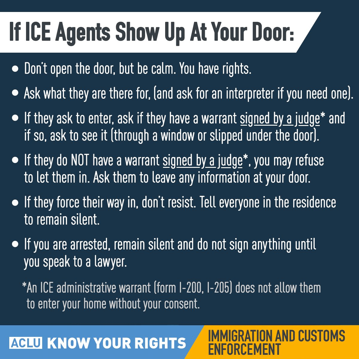 Image result for if ice agents show up at your door