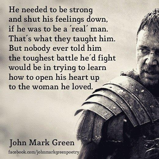 John Mark Green On Twitter Strong Silent Type Men Emotions