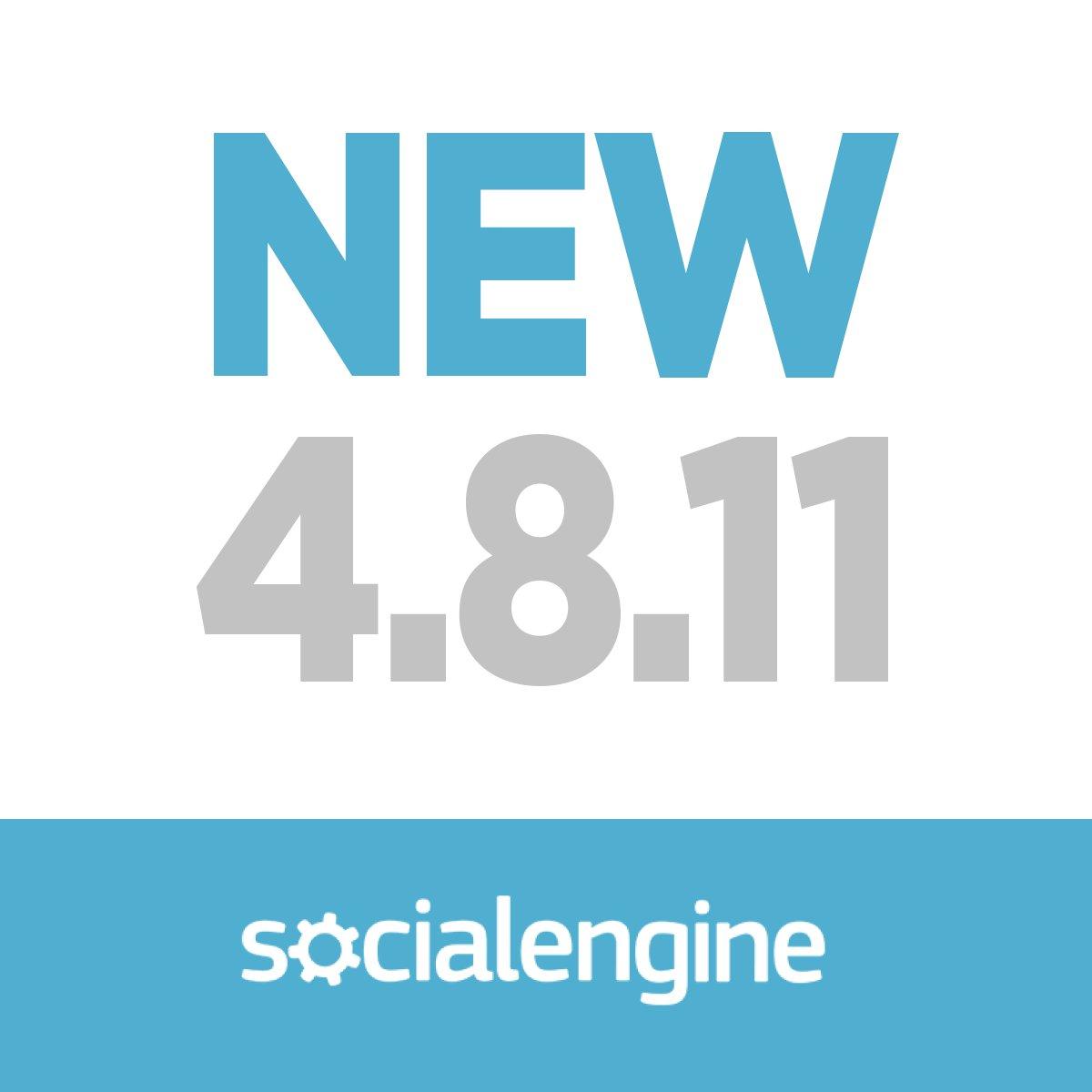 SocialEngine PHP 4.8.11 is here! Check it out: https://t.co/ZsDVJznI8m https://t.co/eGtQ4eMPzu