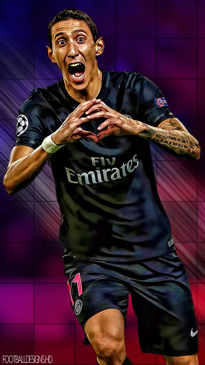 Football Designs On Twitter Angel DiMaria PSG Argentina Phone Wallpaper Included