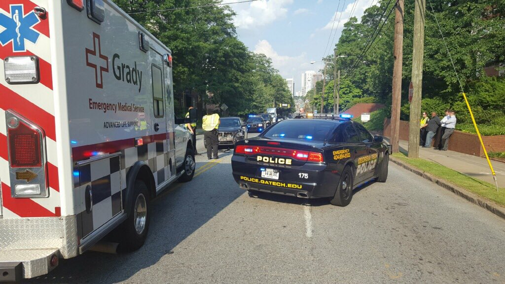 Georgia Tech Police On Twitter 10th Street East Bound Is Blocked And Redirecting North Into Home Park West Has 1 Lane