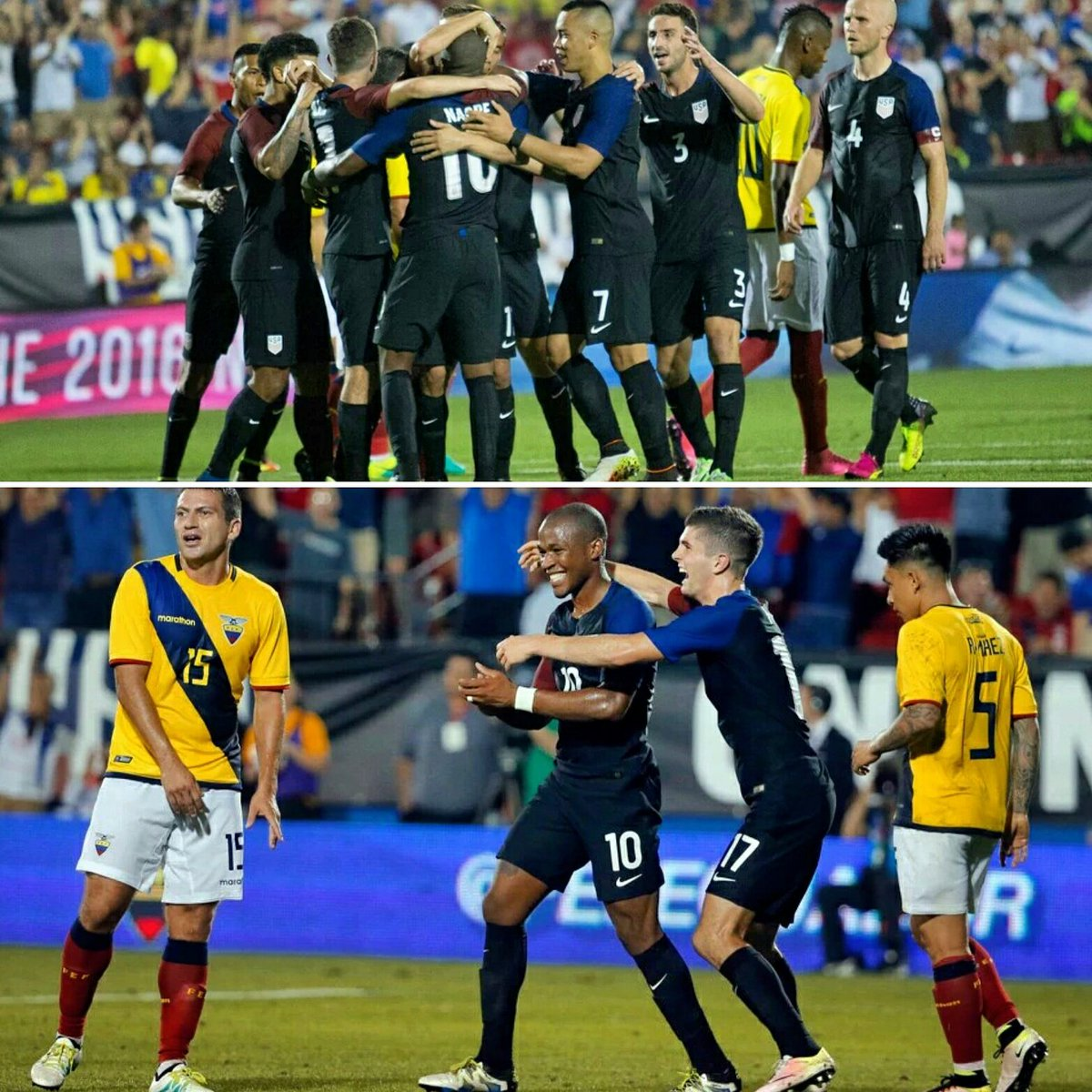 Great win last night! Thrilled to get my first goal for the national team as well! https://t.co/9xQm6OtZRJ