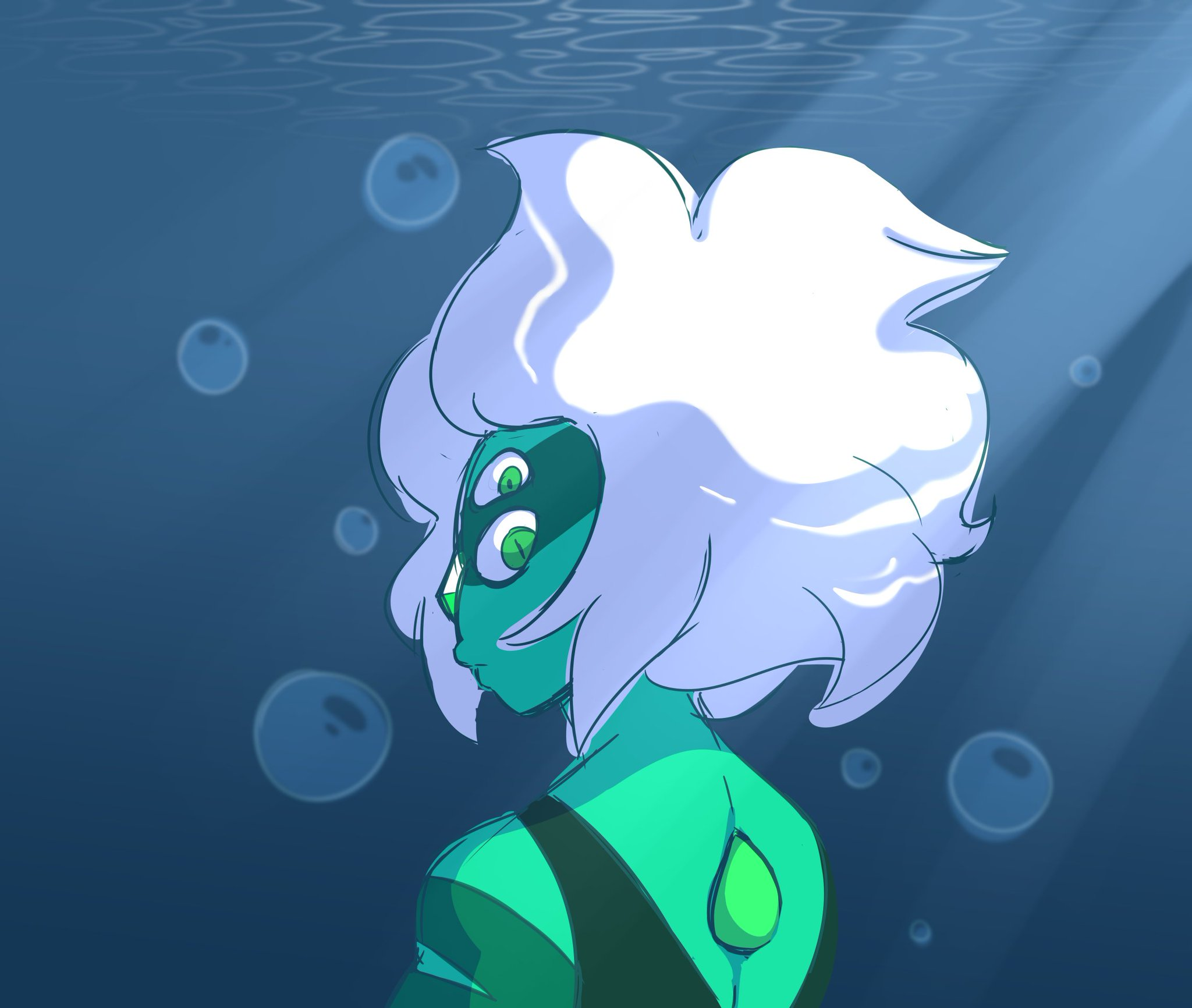 """Malachite. The first time Ive drawn her and its not even proper D:"""