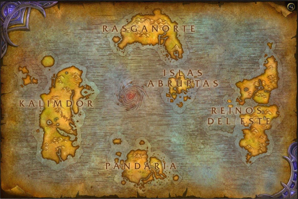 Mapa Reinos Del Este.Proenix Twitterissa Wow Mapa Del Mundo De Azeroth En