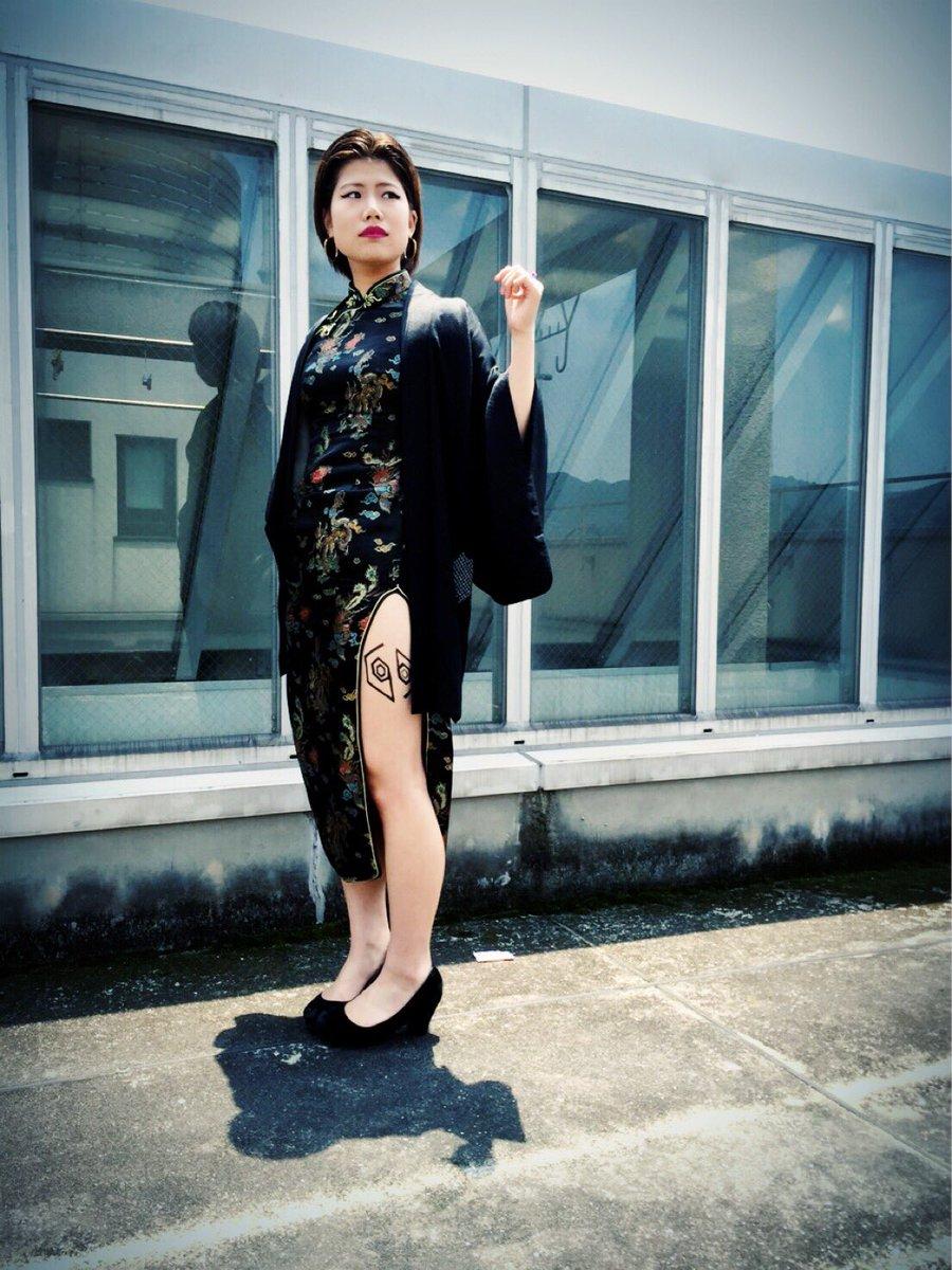 岡山 倉敷 ファッションスナップ チャイナ服 女王蜂 LIVE参戦服 金星から来たヤツらpic.twitter.com/fpxOnaeClO