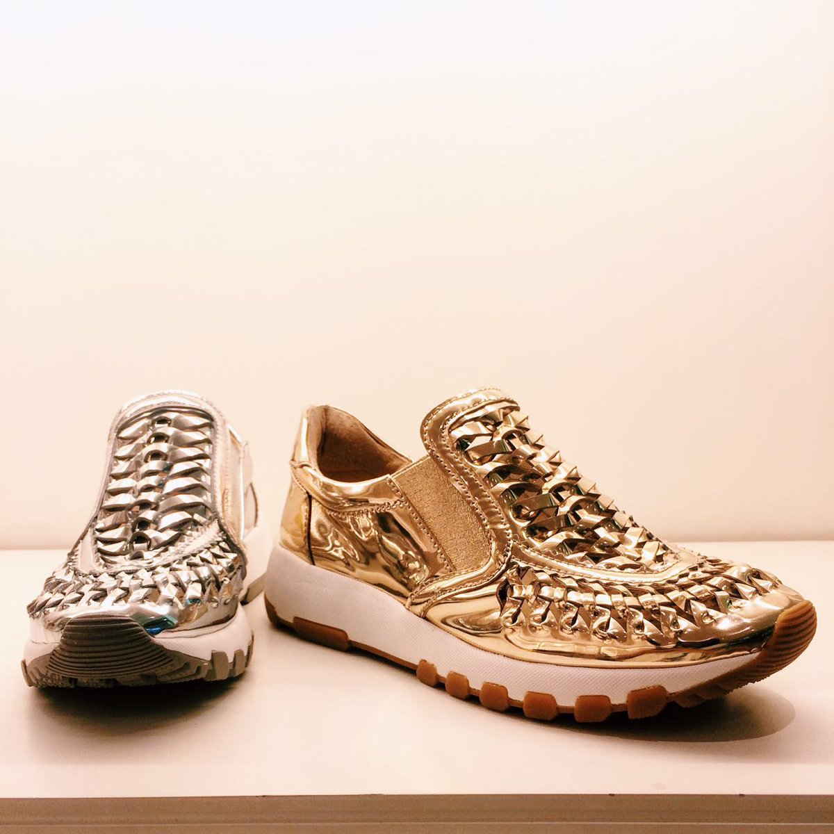 Staccato Golden and Silver sneakers
