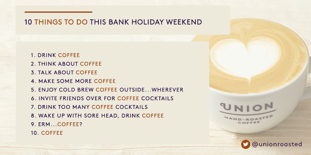 Don't waste that extra day off. Here's 10 things to do this #bankholidayweekend https://t.co/HlL6Qb3L37