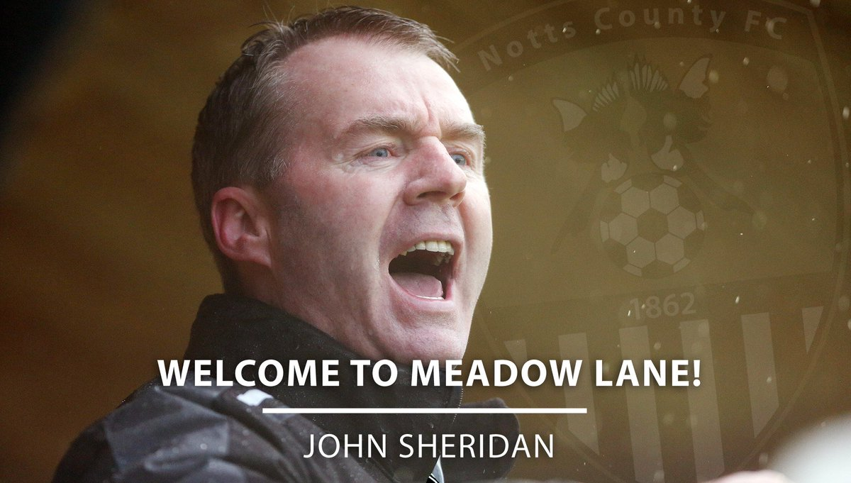 BREAKING: John Sheridan joins Notts County as Manager. https://t.co/dnzx8UABH6