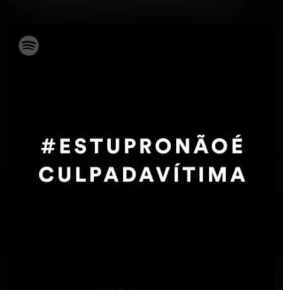 Spotify arrasou leiam as músicas em ordem. #ESTUPRONÃOÉCULPADAVITIMA https://t.co/dEGlaFTJwG