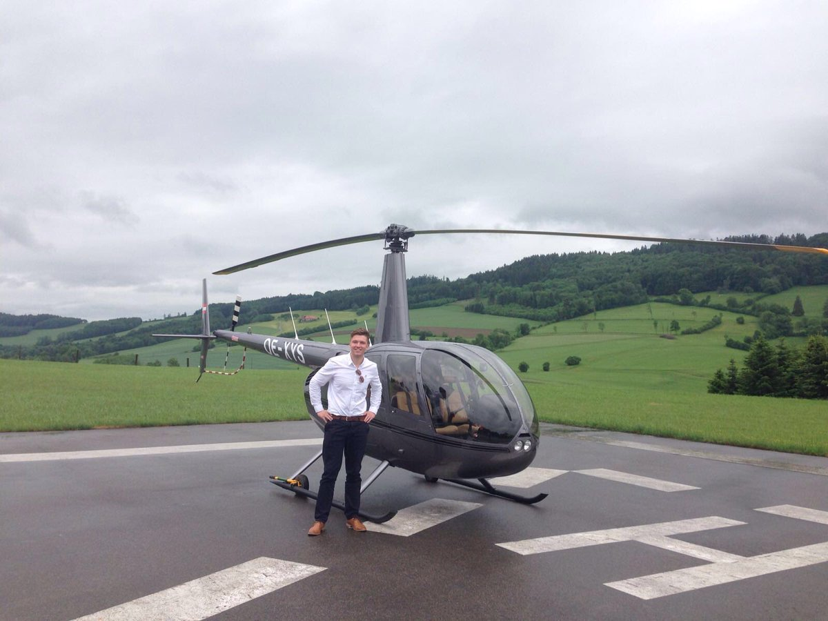 Had the pleasure of delivering this Brand new R44 to the uk from Austria #ferrypilot <br>http://pic.twitter.com/EraGkVMUV4