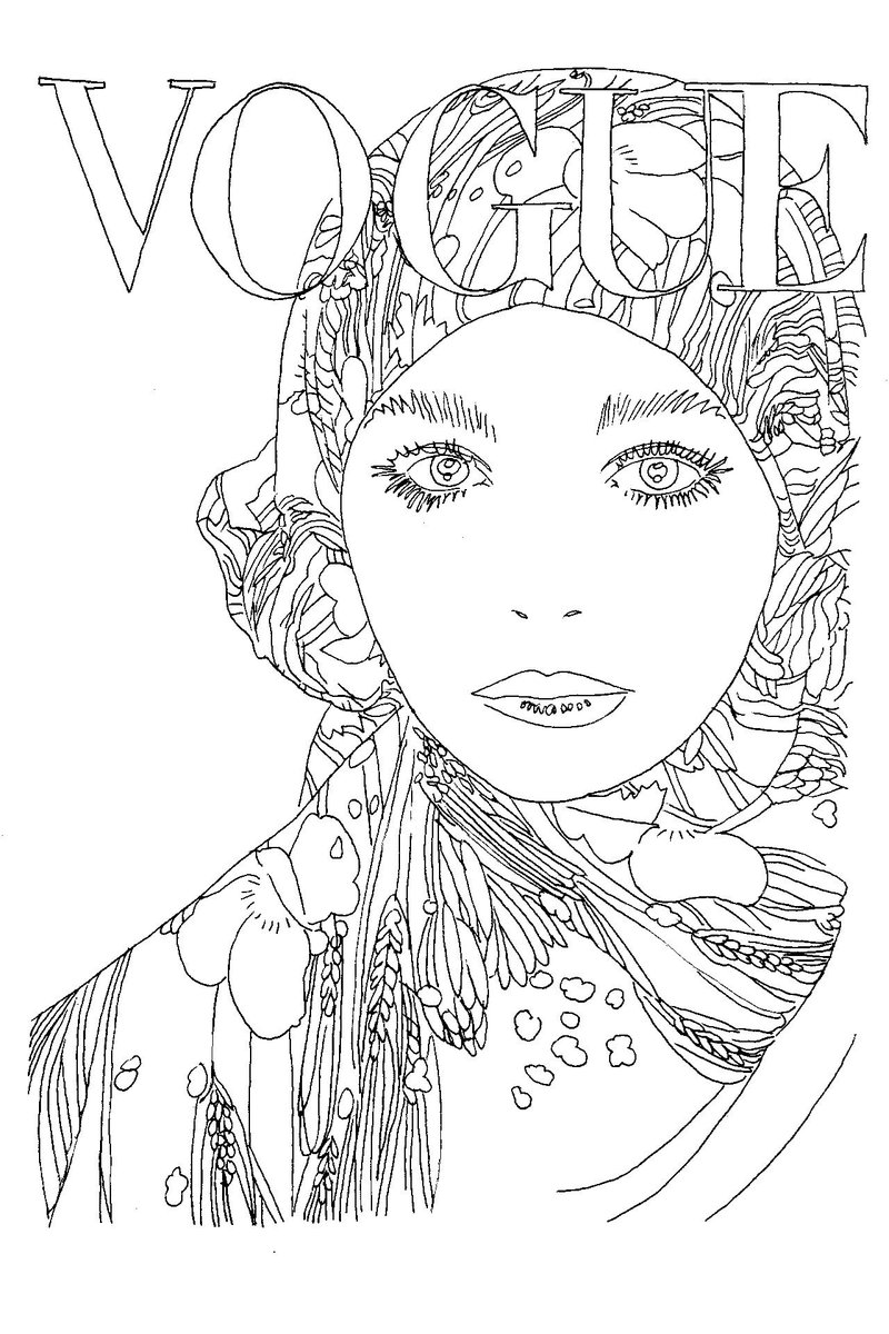 Vogue Goes Pop Inside The New Colouring Book